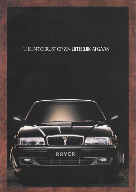 800 Sedan brochure, 4 pages, A4-size, about 1986, Dutch language