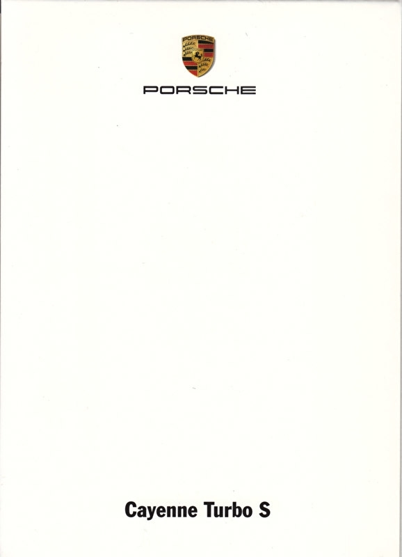 Cayenne Turbo S, A6-size set with 6 postcards in white cover, 2009, WSRE 0901 02S4 00
