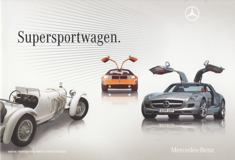 Sportwagen brochure with history, 28 pages, 03/2010, German language