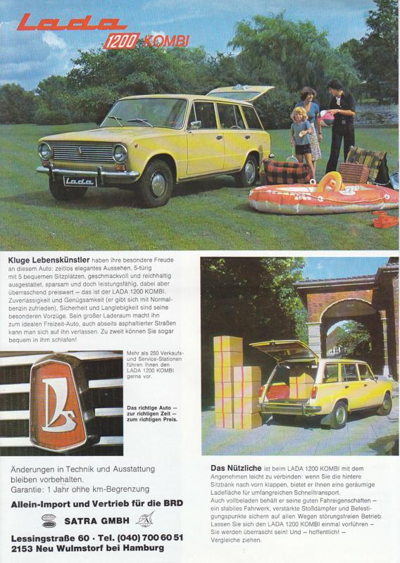 1200 Kombi leaflet, 2 pages, about 1978, German language