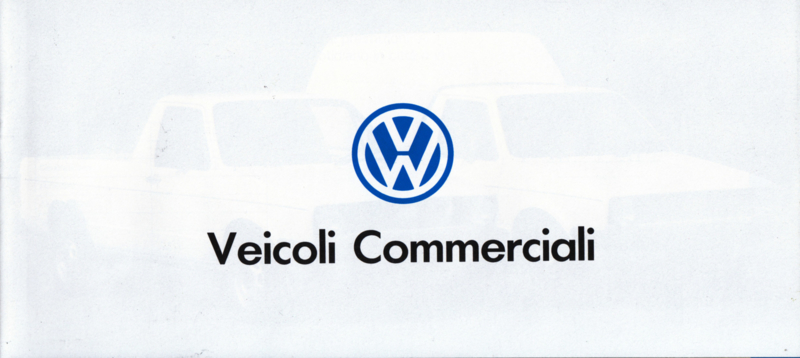 Program commercial cars brochure, 20 smaller pages, 04/1992, Italian language