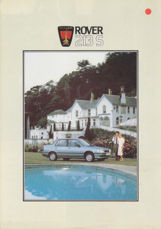 213 S Sedan brochure, 4 pages, A4-size, about 1986, Dutch language