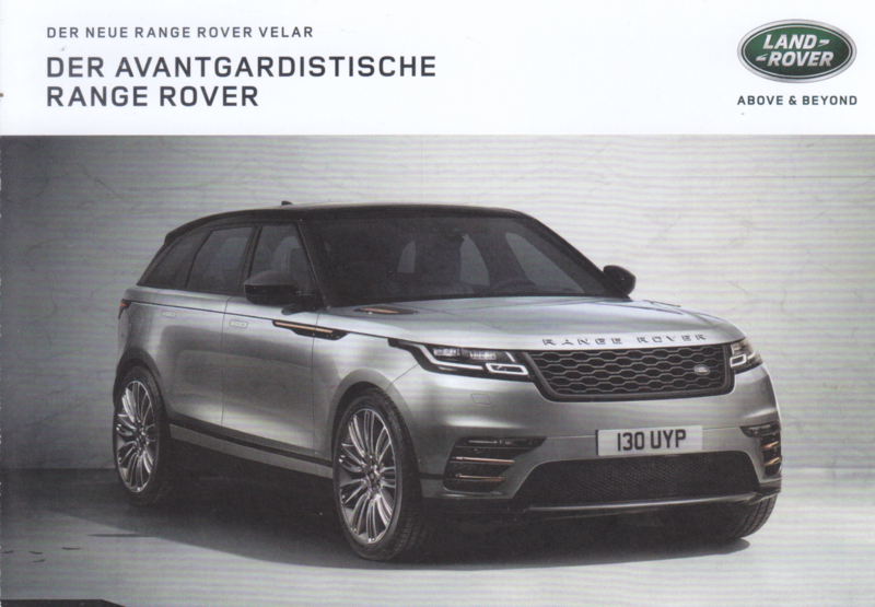 Range Rover Velar, DIN A6-size, advertising postcard, German issue, # D1223