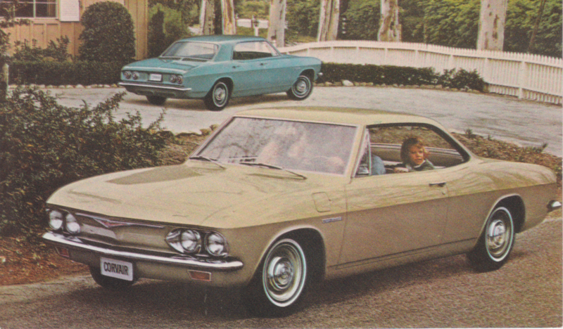 Corvair 500 Sport Coupe & Sedan, US postcard, standard size, 1965, # 1