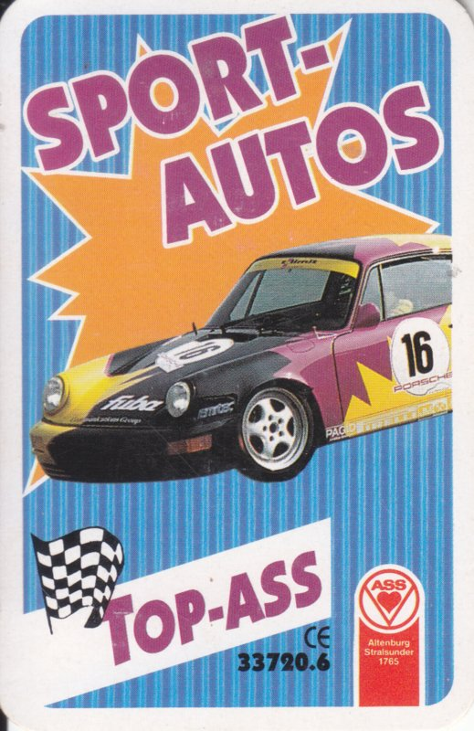 ASS Sport-Autos,  32 different cards in plastic cover, German issue
