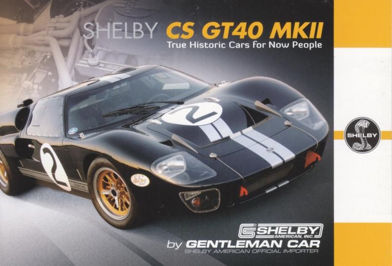 CS GT40 MK II Ltd Edition postcard,  English language, Belgian issue, about 2014