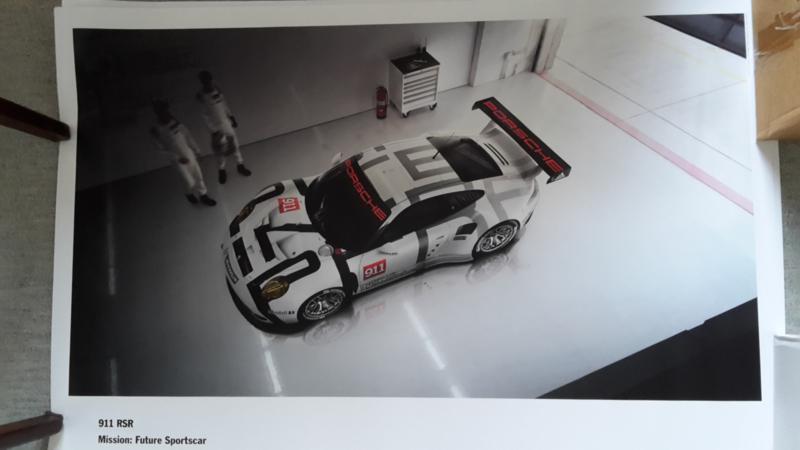 911 RSR sportscar large original factory poster, published 02/2015