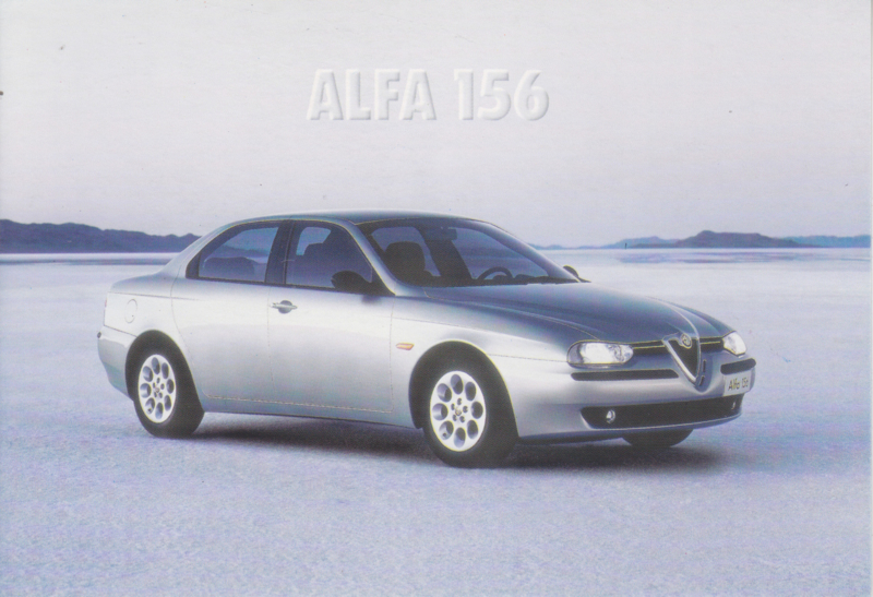 156 Sedan postcard, DIN A6-size, about 1998, Spanish freecard