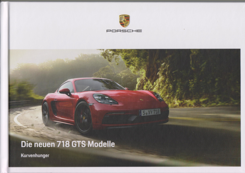 718 Boxster & Cayman GTS brochure, 60 pages, 10/2017, German language