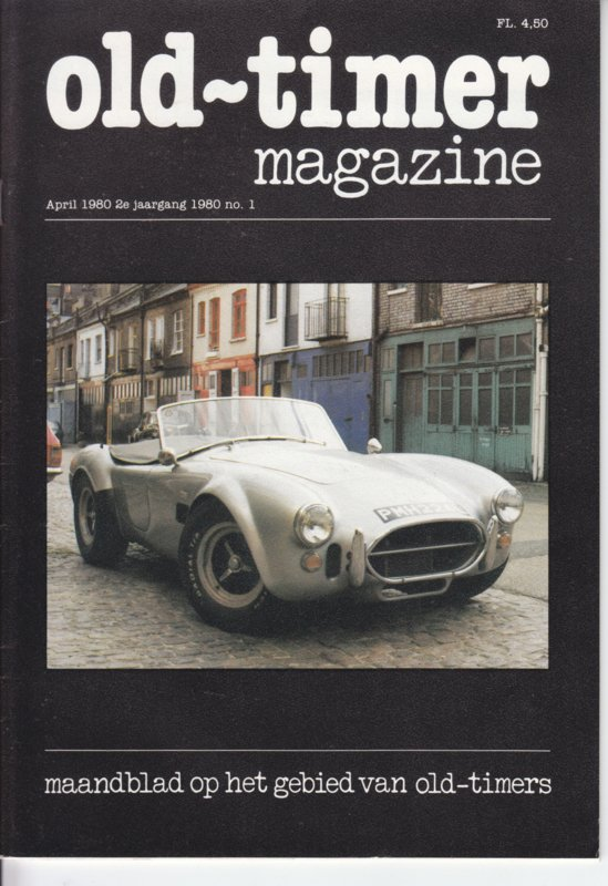 Old-Timer magazine,  A5-size, 36 pages, April 1980, Dutch language