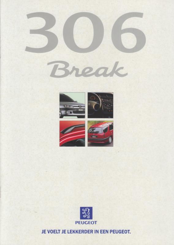 306 Break brochure, 12 pages, A4-size, 09/1997, Dutch language