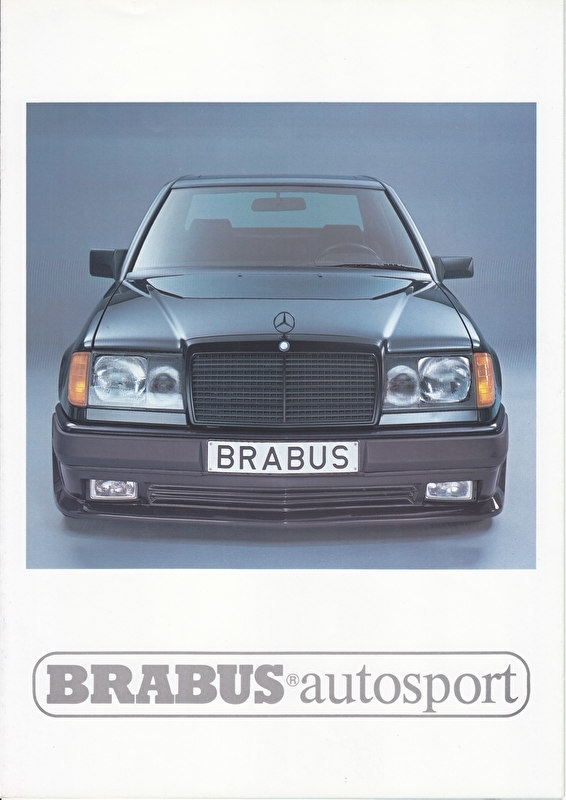 Brabus tuning W124 brochure. 6 pages, about 1994, Dutch language
