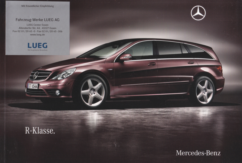 R-class brochure, 104 pages, 06/2009, German language