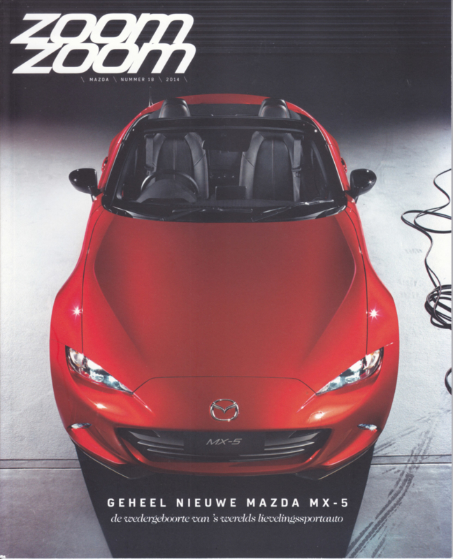 Mazda Zoom Zoom, A4-size, 48 pages, Nr. 18, 2014, Dutch language