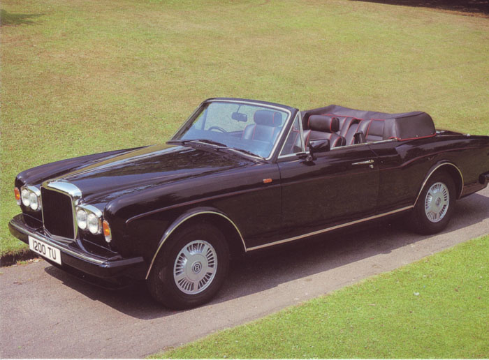 Continental Convertible, DIN A6-size postcard, 1989, English language