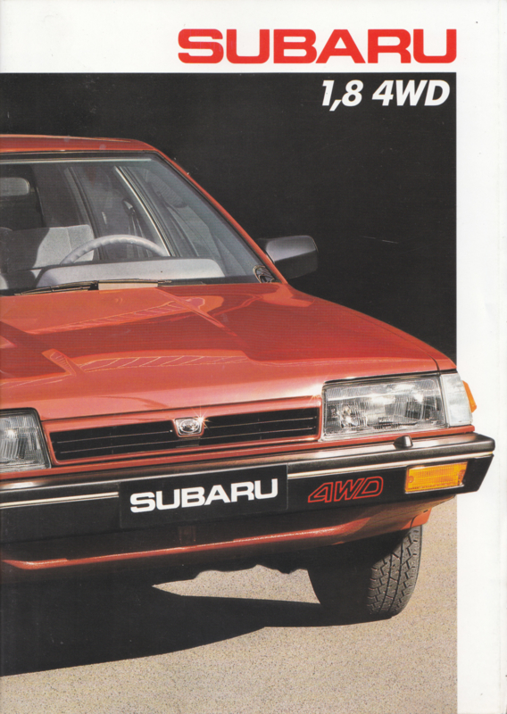 Program 1.8 4WD brochure, 38 pages, French language, about 1986, Swiss