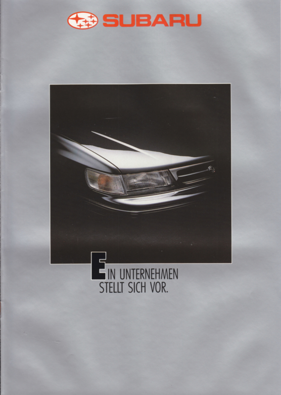 Corporate Information brochure, 12 pages, German language, 1992