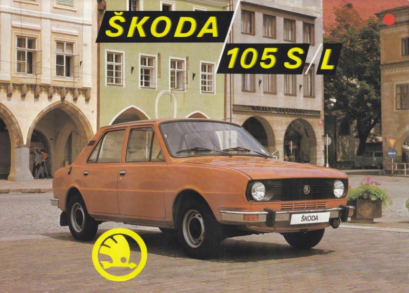 105 S/L Sedan leaflet, 2 pages, English language, about 1983