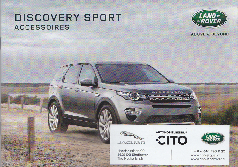 Discovery Sport accessories brochure, 20 A5-size pages, 12/2015, Dutch language