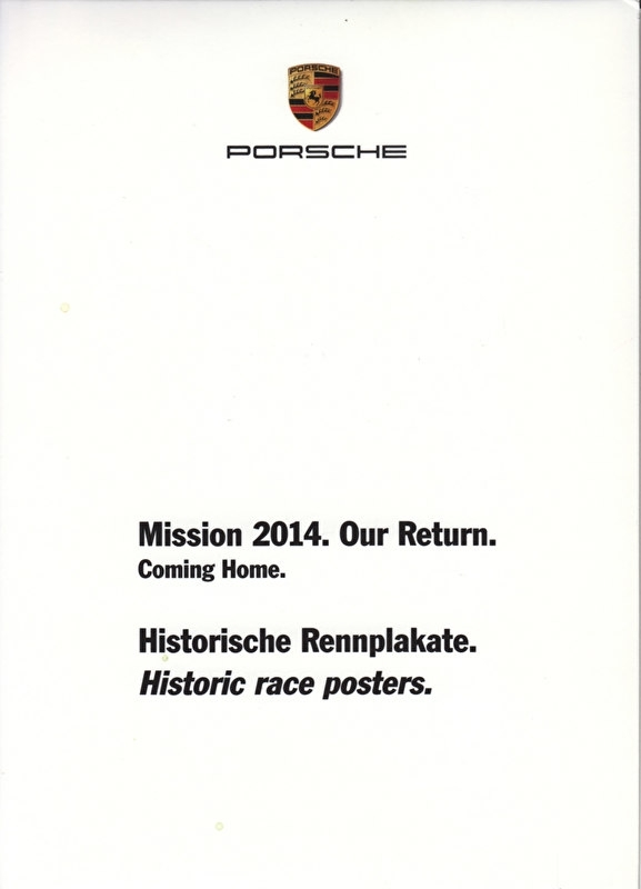 Historic Race Posters, A6-size set with 15 postcards in white cover, 2013, WDMZ 7701 0001 00