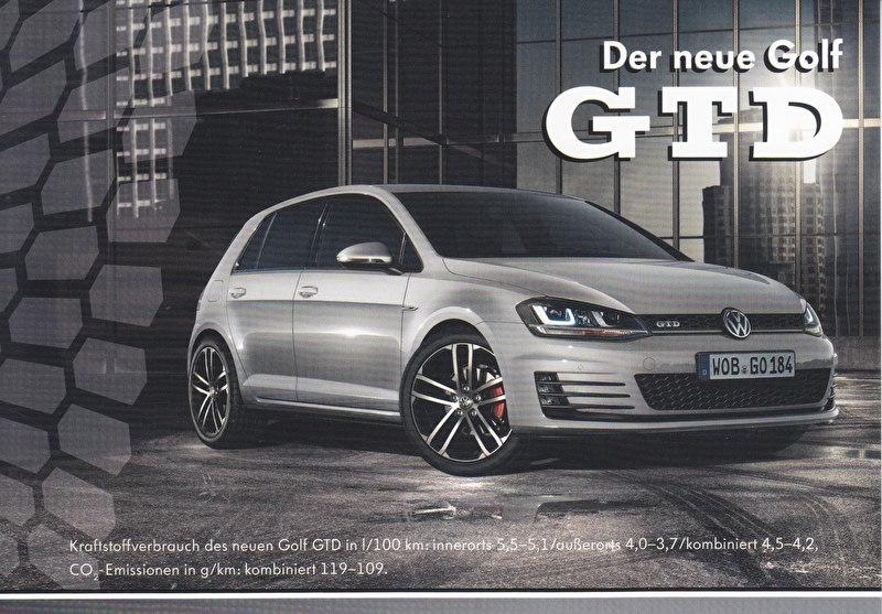 Golf GTD, A6-size postcard, German, 2013