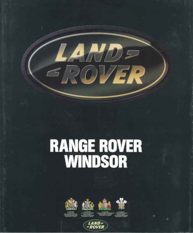 Range Rover Windsor folder, 4 pages, about 1994, Dutch language