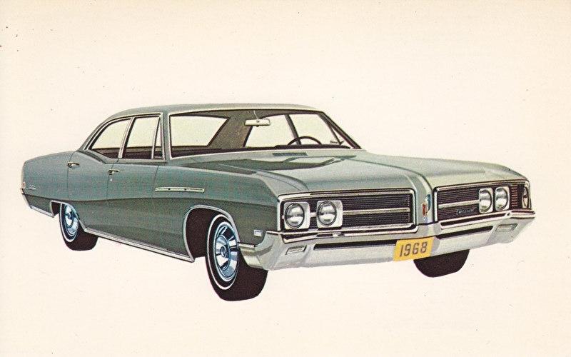 Le Sabre 4-Door Sedan, US postcard, standard size, 1968, # 9