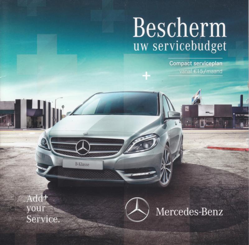 B-Klasse service program folder. 10 pages, 04/2013, Dutch language, Belgium