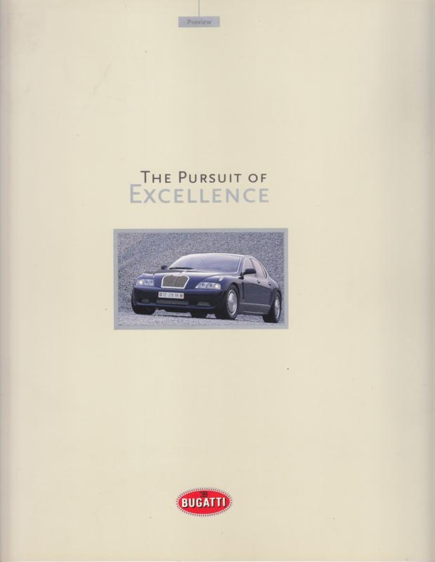 Bugatti EB 118 / EB 218 brochure, 20 large pages, 1999, German language