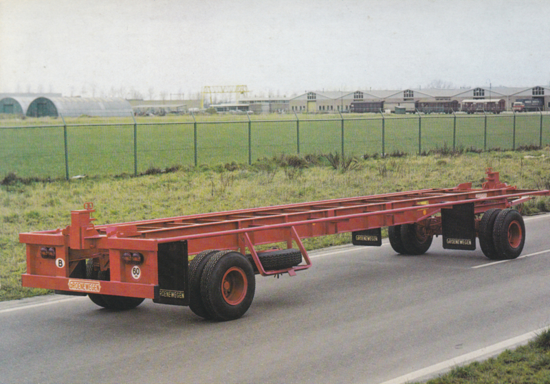 40 Feet container trailer, DIN A6-size postcard, Dutch issue
