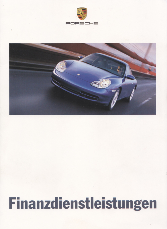 Financial Services brochure, 12 pages, 07/1999, German
