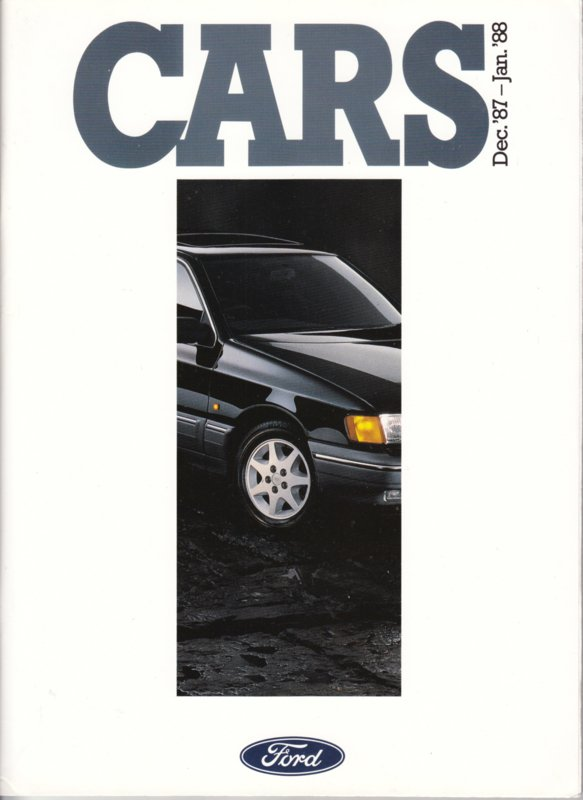 Cars UK all model brochure, 140 pages, 12/1987, English language