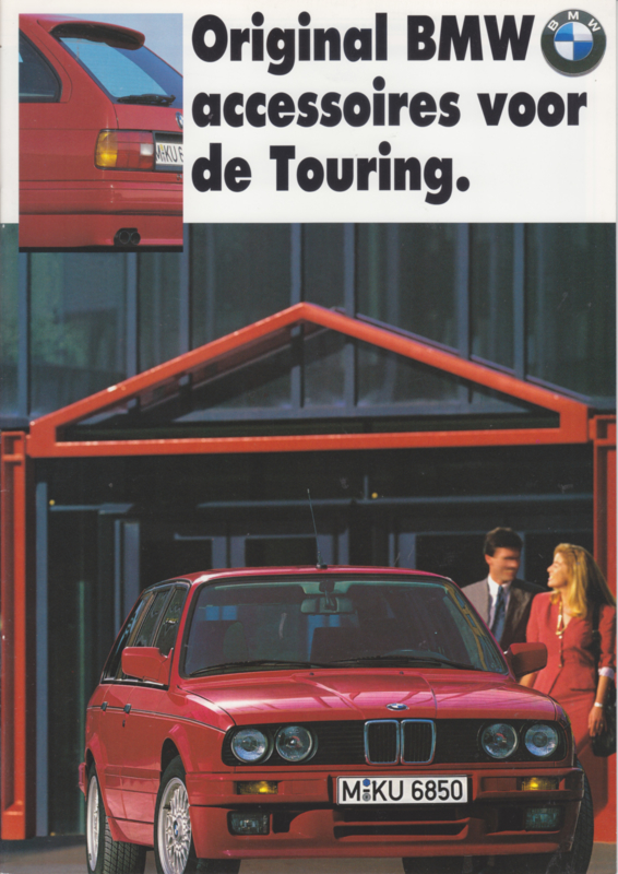 3-serie Touring accessories brochure, 24 pages, A4-size, 05/1989, Dutch language