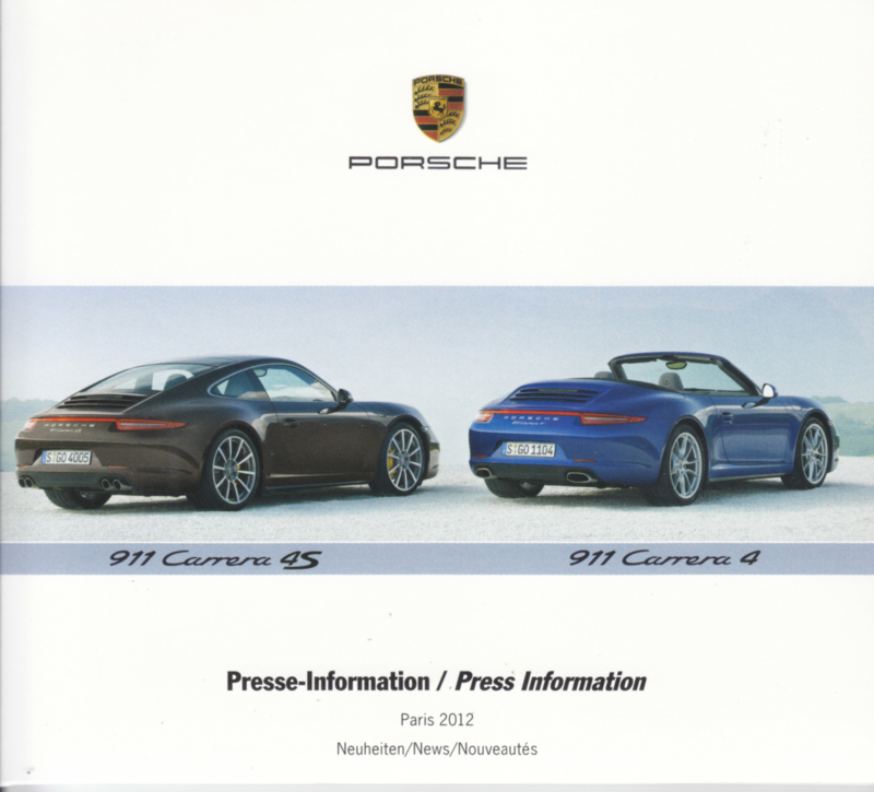 Porsche Press Kit Paris 2012, DVD with pictures & small booklet, factory-issued,  German/English/French