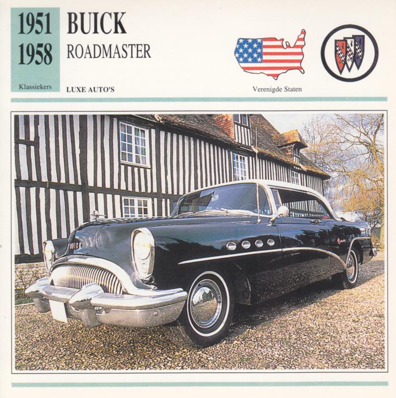 Buick Roadmaster card, Dutch language, D5 019 01-12