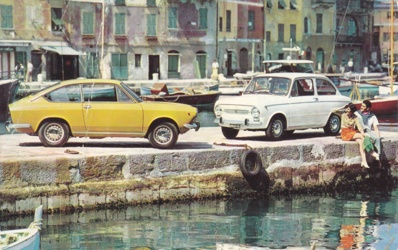 850 Special & Sport coupé, standard size, Italian postcard, undated, about 1967