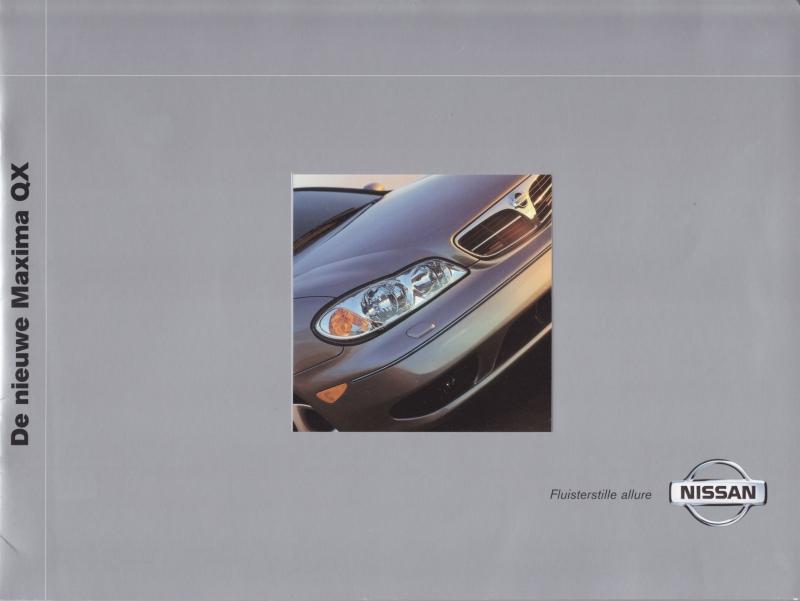 Maxima QX Sedan brochure, 16 pages + specs., 04/2000, Dutch language