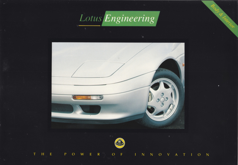Engineering covering Body & Interior, 6 pages, DIN A4-size, factory-issued, c1991, English