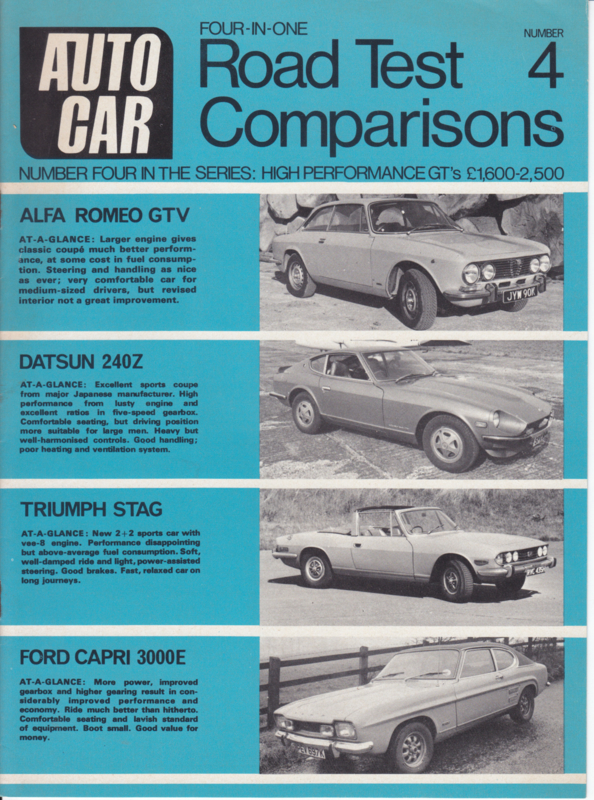 Autocar 4-in-one roadtest comparisons, # 04, 12 pages, 1971, English language