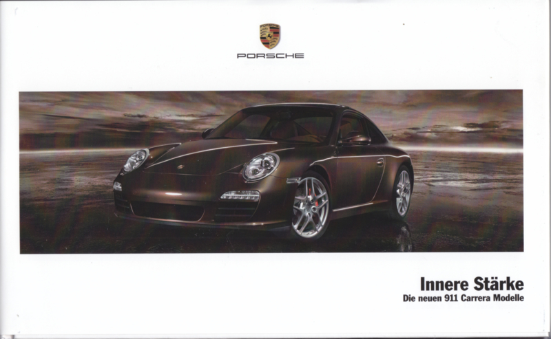 911 Carrera brochure with CD-rom, 52 pages, 04/2008, hard covers, German