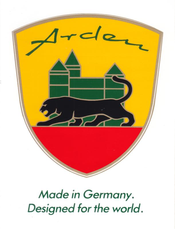 Arden (Jaguar conversions Germany) sticker, 10,5 x 15 cm