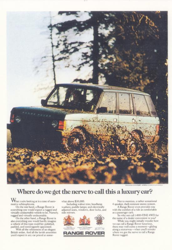 Range Rover 2003, DIN A6-size, English language, print number VRA22PC
