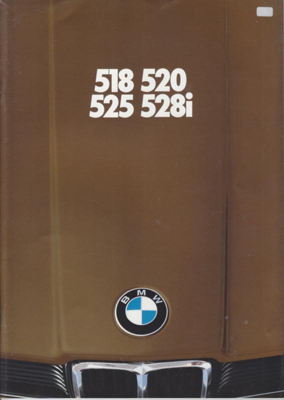 518/520/525/528i brochure, 46 pages, A4-size, 1/1980, Dutch language