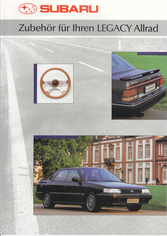 Legacy 4x4 accessories brochure, 12 pages, German language, 05/1991