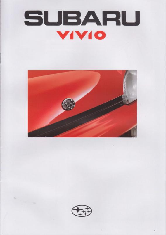 Vivio brochure, 12 pages, Dutch language, 1992
