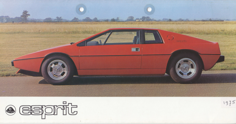 Esprit brochure, 6 pages, factory-issued, 9/1975, English language