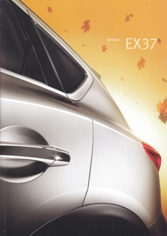 EX37 SUV brochure, 48 pages, Dutch language, 12/2008