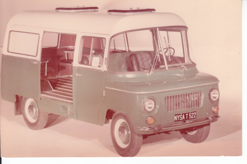 T522 Van, photocard with text on reverse, English language (Poland)