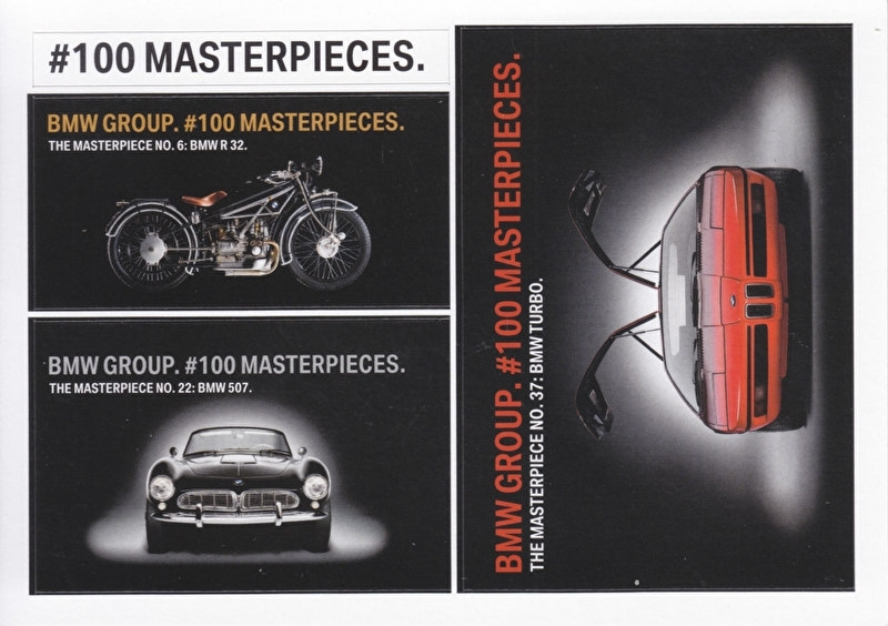Classic, # 100 Masterpieces, A6-size postcard, factory issue, German, 2016