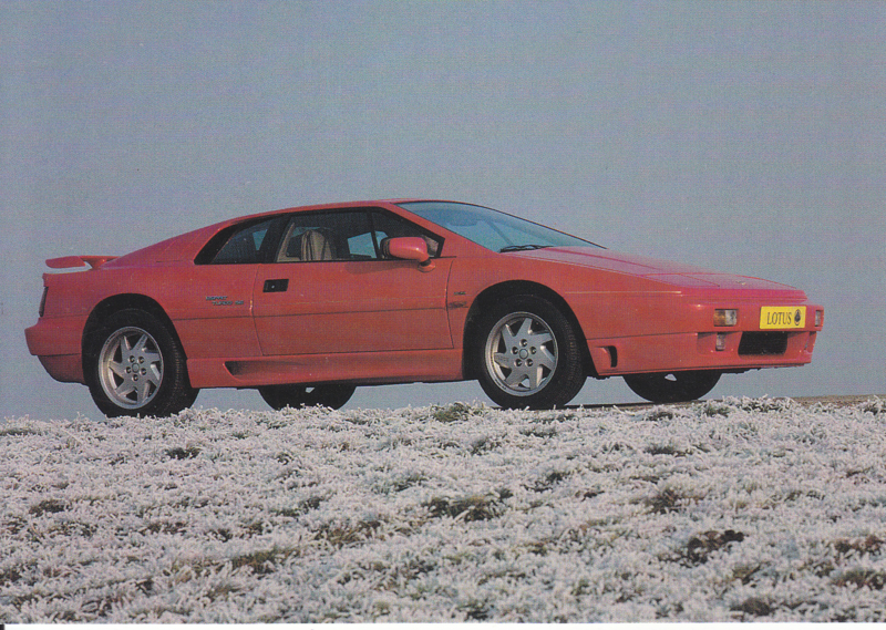 Esprit Turbo SE, DIN A6-size postcard, about 1990, Dutch language